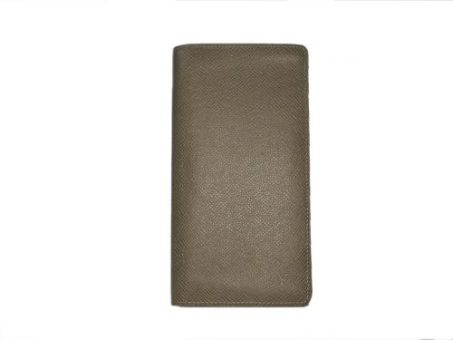 Louis Vuitton M32807 Beige Taiga Leather Portefeuille Bi-fold Brazza Wallet -0
