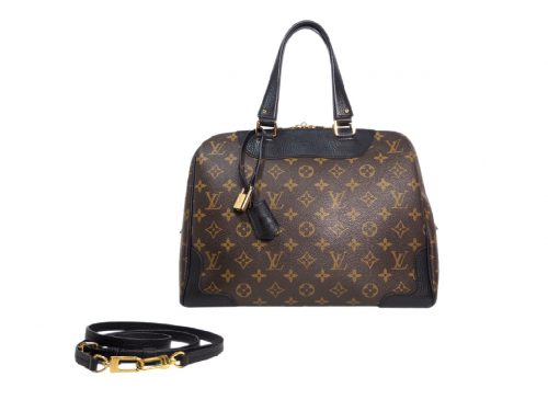 Louis Vuitton M50058 Retiro Black Tote with Strap (TJ0155)-0