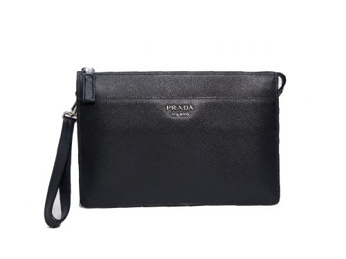 Prada 2VF019 Black Saffiano Men Clutch Pouch/ Bag-0