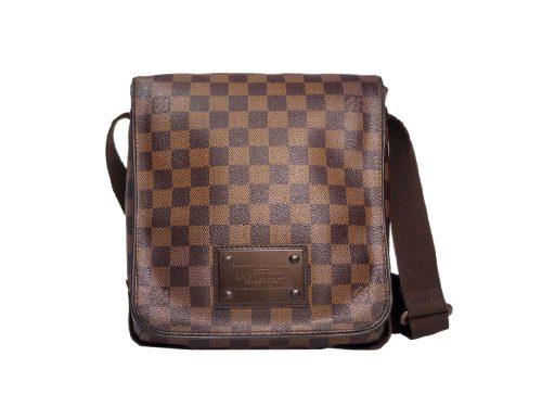 Louis Vuitton N51210 Damier Canvas Brooklyn PM Messenger Bag (SR1121)-0
