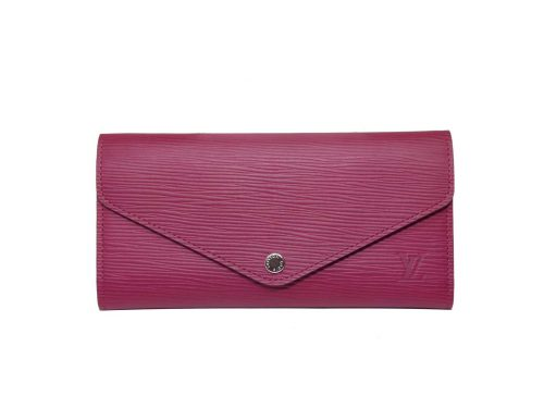 Louis Vuitton M60711 Fuchsia/ Rouge Epi Leather Tri-fold Josephine Wallet (GI 3114)-0