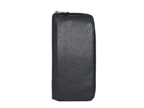 Louis Vuitton M30513 Black /Ardoise Taiga Leather zippy Organizer large zip around wallet  -0
