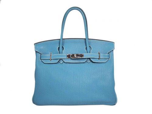Hermes Birkin 30 Blue Jean Togo M Stamp Palladium Hardware-0