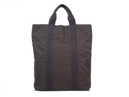 Hermes Grey/ Light Grey Fourre Tout Herline Tall MM Vertical Document / Laptop Tote -0