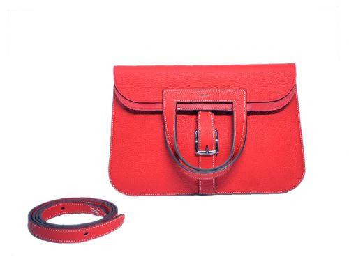 Hermes Halzan 31 Tomoto Clemence Leather Multiple Functional 4 Ways Bag -0