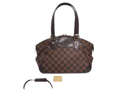 Louis Vuitton N41117 Damier Ebene Verona PM Shoulder Bag (DU0141)-0