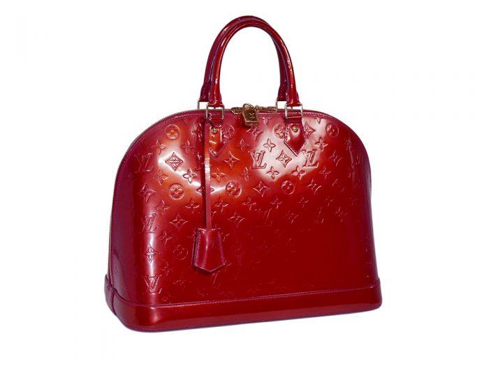 Louis Vuitton M93596 Pomme D'Amour Monogram Vernis Alma MM-0
