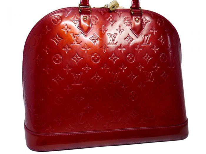 Louis Vuitton M93596 Pomme D'Amour Monogram Vernis Alma MM-38377