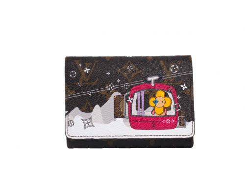 Limited Collection ! Louis Vuitton M68492 Monogram Christmas Animation Victorine Wallet-0
