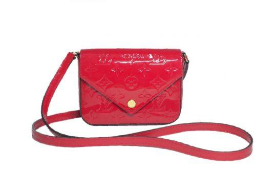 Louis Vuitton M90285 Sac Lucie Vernice Rose Indien Crossbody Sling Bag (SN0155)-0
