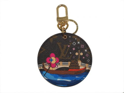 Christmas Limited Collection ! Louis Vuitton M68652 Vivienne Xmas Bag Charm and Key Holder -Venice design-0