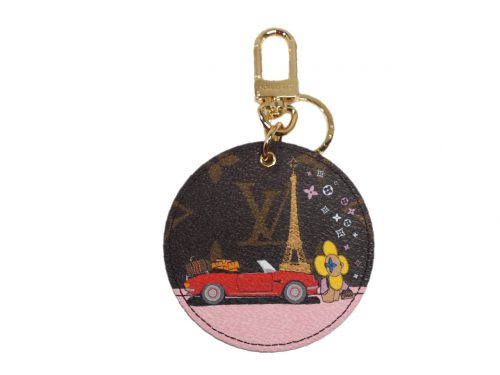 Christmas Limited Collection! Louis Vuitton M68651 Vivienne Xmas Bag Charm and Key Holder -Paris Design-0