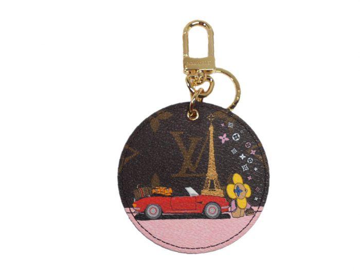 Christmas Limited Collection! Louis Vuitton M68651 Vivienne Xmas Bag Charm and Key Holder -Paris Design-0