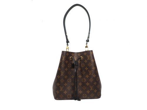 Louis Vuitton M44020 Black NEONOE MM Monogram Canvas Bucket Bag-0
