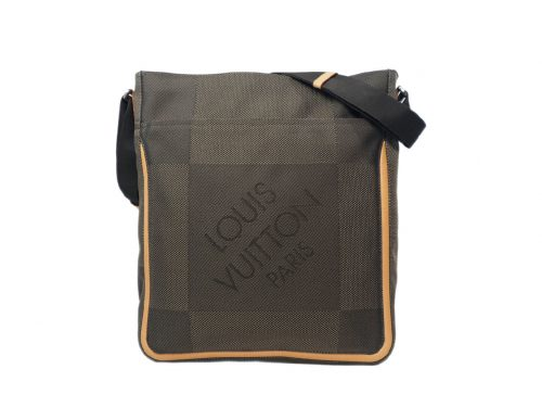 Louis Vuitton M93045 Terre Damier Geant Canvas Compagnon Vertical Laptop/ Document Messenger Bag-SP0074-0