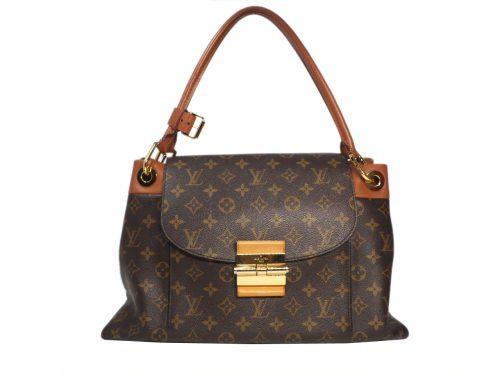 Louis Vuitton M40580 Camel Monogram Canvas Olympe Flap, Push lock Bag (SP0183)-0