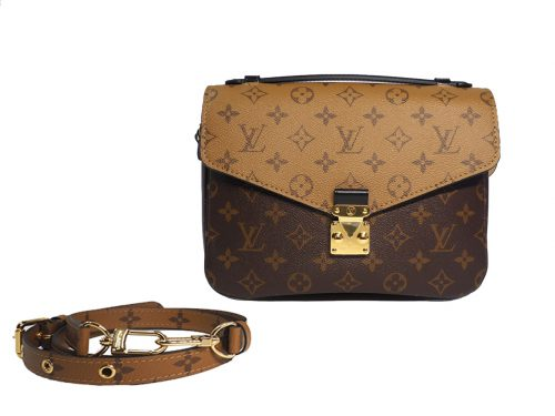 Louis Vuitton M44876 Monogram Reverse Canvas Pochette Metis Messenger Bag-0