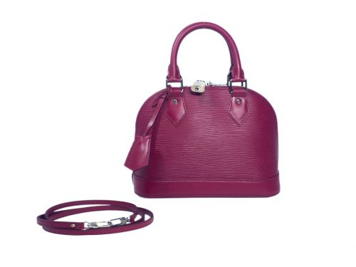 Louis Vuitton M40851 Epi Fuchsia Alma BB Tote with Strap (FL1144)-0