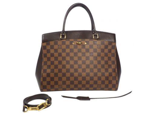 Louis Vuitton N41150 Damier Ebene Canvas Rivoli MM Document 2-Way Bag (CA4184)-0