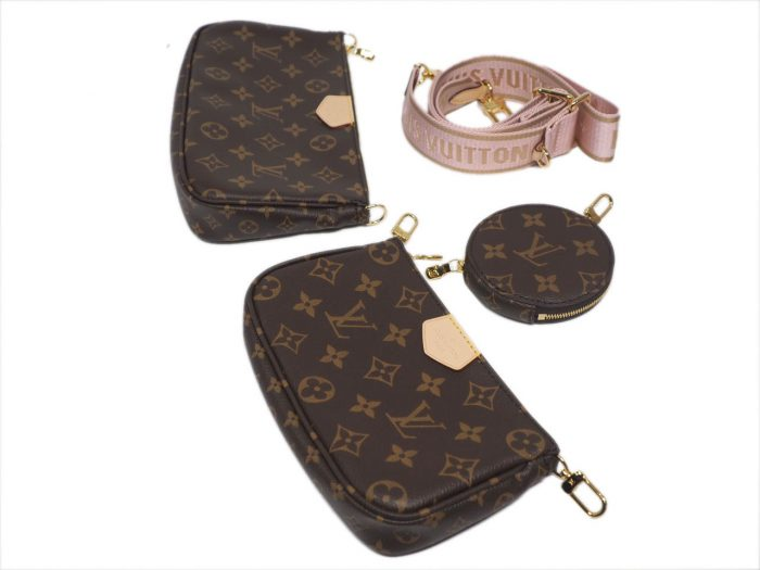 Exclusive Item ! Louis Vuitton M44840 Monogram Multi Pochette Accessories -Rose Clair Strap-39664