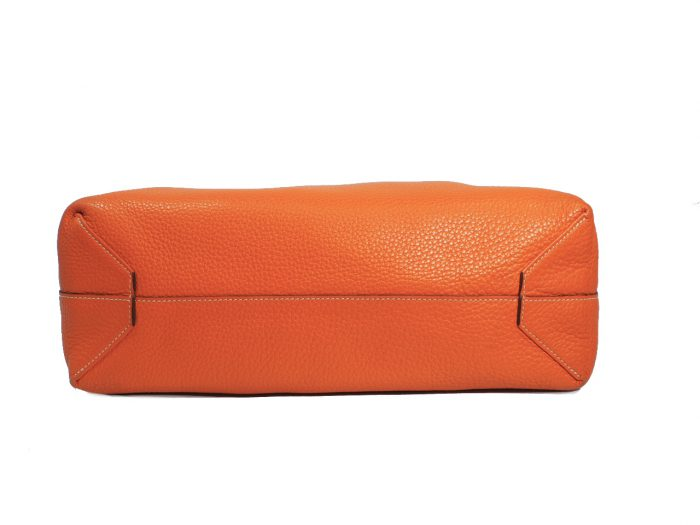 Hermes Reversible Double Sens Touch Bag Orange/ Gold Clemence P Stamp -39488