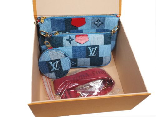 Exclusive Item -Louis Vuitton M44990 Monogram Denim Canvas Multi Pochette Accessoires-0