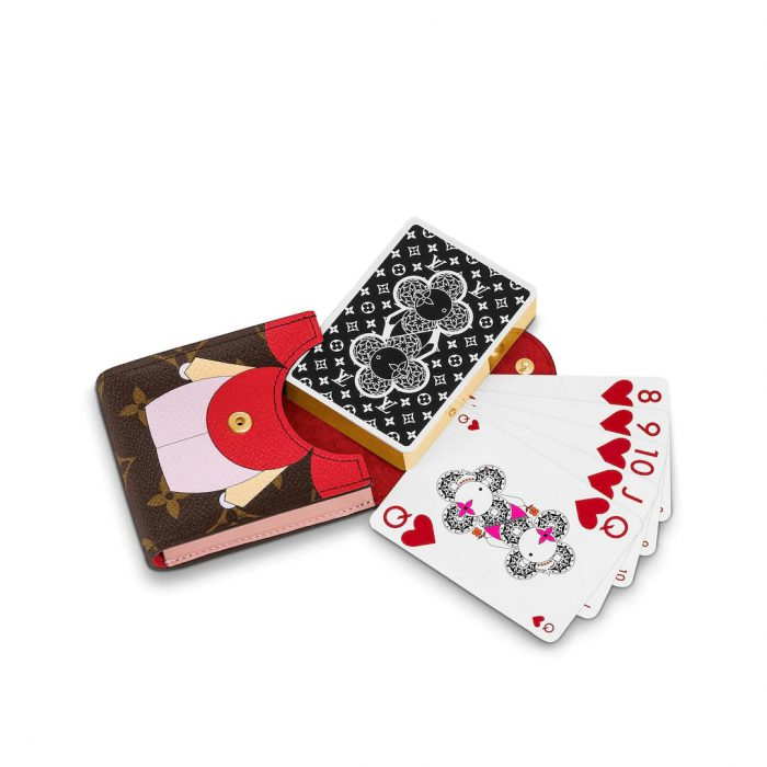 Louis Vuitton GI0446 Monogram canvas/ Monogram Flower Vivienne playing cards and pouch -39272