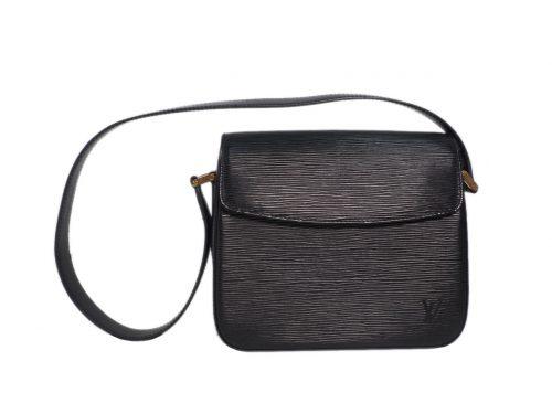Louis Vuitton M52209 Vintage Black Epi Leather Buci shoulder Bag (SP0090)-0