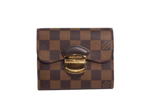 Louis Vuitton N60034 Damier Canvas Portefeuille Joy Bi-fold Wallet (TA4124)-0